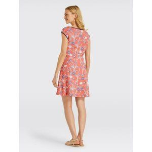 DRAPER JAMES dress sleeveless floral ponte XS